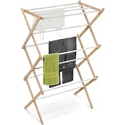 Honey Can Do Wood Accordion Drying Rack, 25 linear feet