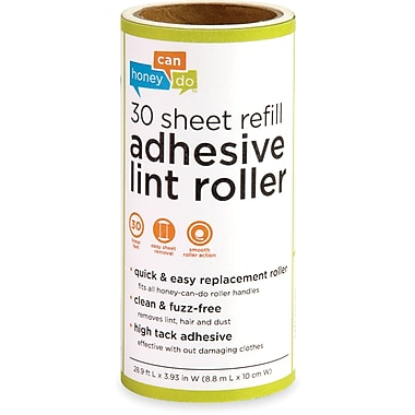 Honey Can Do 6 Pack Of 30 Sheet Lint Roller Refills