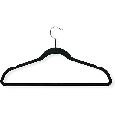 Honey Can Do 20 Pack Velvet Touch Suit Hanger, Black