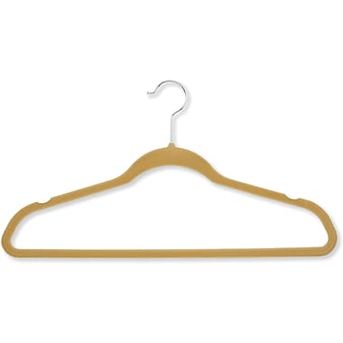 Honey Can Do 50 Pack Velvet Touch Suit Hangers, Camel