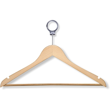 Honey Can Do 24 Pack Hotel Suit Hangers, Maple