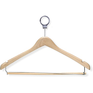 Honey Can Do 24 Pack Hotel Hanger, Locking Bar, Maple