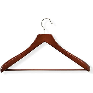 Honey Can Do Curved Wood Suit Hanger, Cherry