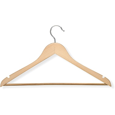 Honey Can Do 8 Pack Basic Suit Hanger, Maple