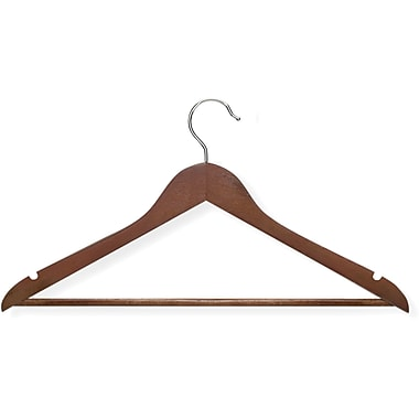 Honey Can Do 8 Pack Basic Suit Hanger, Cherry