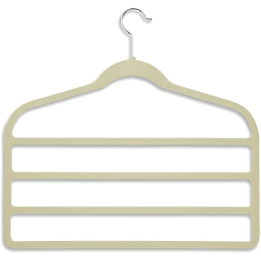 Honey Can Do 10 Pack Velvet Touch 4-Step Pant Hanger, Ivory