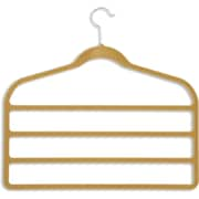 Honey Can Do 10 Pack Velvet Touch 4-Step Pant Hanger, Camel