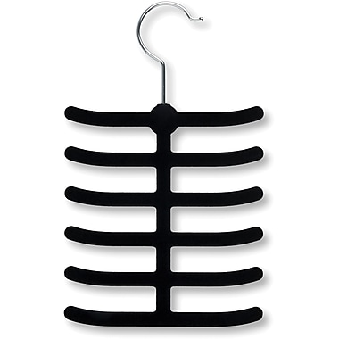 Honey Can Do 20 Pack 12 Hook Tie Hanger, Black