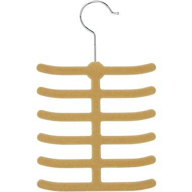 Honey Can Do 20 Pack 12 Hook Tie Hanger, Tan