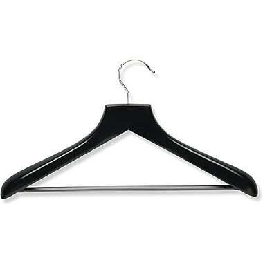 Honey Can Do Curved Wood Suit Hanger, Ebony
