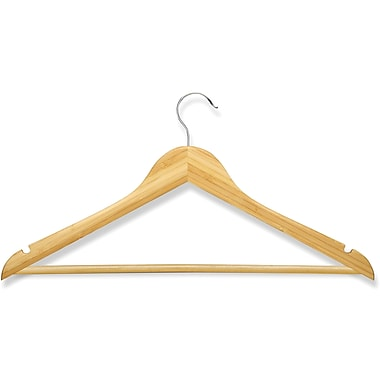 Honey Can Do 8 Pack Basic Suit Hanger, Bamboo
