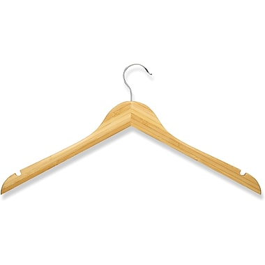 Honey Can Do 10 Pack Wood Shirt Hanger, Bamboo