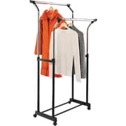 Honey Can Do Flared Double Garment Rack, Black