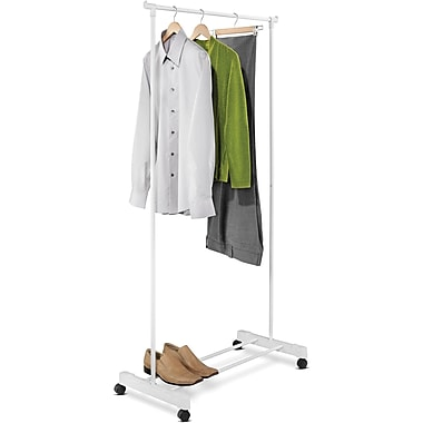 Honey Can Do Portable Garment Rack, White