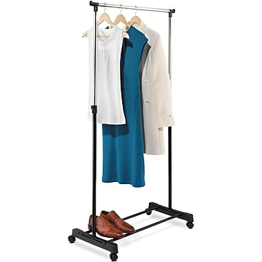 Honey-Can-Do International GAR-01122 Adjustable Garment Rack, Black