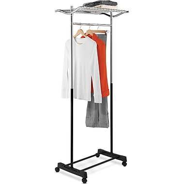 Honey Can Do Garment Rack with top shelf