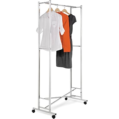 Honey Can Do Square Tube Garment Rack- Chrome