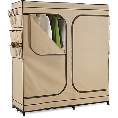 Honey Can Do 60in. Double Door Storage Closet, Tan