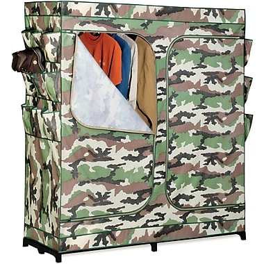 Honey Can Do 60in. Double Door Storage Closet, Camouflage