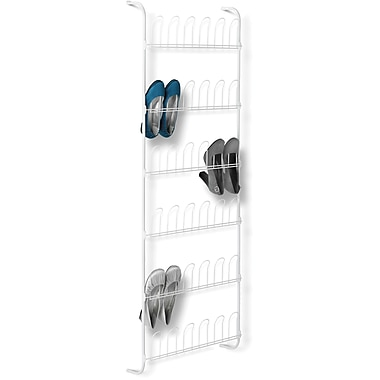 Honey Can Do 18 pair Odd Shoe Rack, White