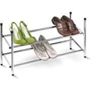 Honey Can Do 2-Tier Expandable Shoe Rack, Chrome