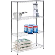 Honey Can Do 4-Tier 250lb. Capacity Shelving Unit, Chrome