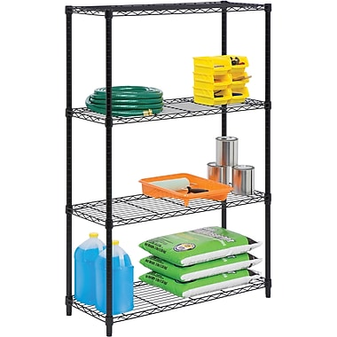 Honey Can Do 4-Tier 250lb. Capacity Shelving Unit, Black