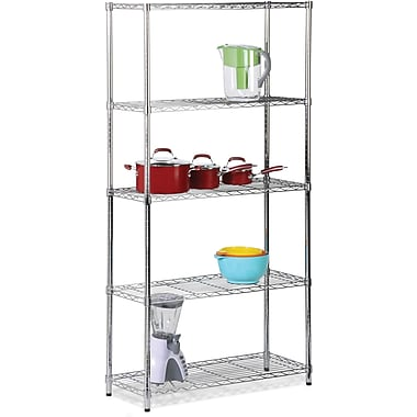 Honey Can Do 5-Tier 200 Lb. Capacity Shelving Unit, Chrome