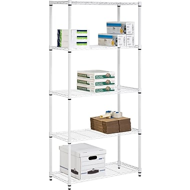 Honey Can Do 5-Shelf Metal Shelving Storage Unit, White