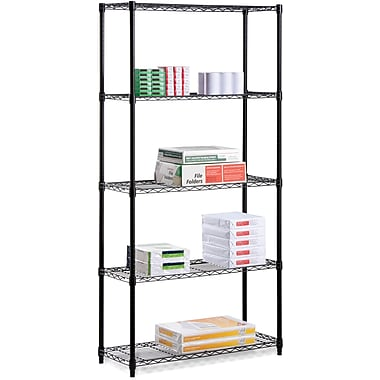 Honey Can Do 5-Shelf Metal Shelving Storage Unit, Black
