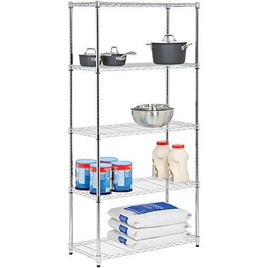 Honey Can Do 5-Tier 350 Lb. Capacity Shelving Unit, Chrome