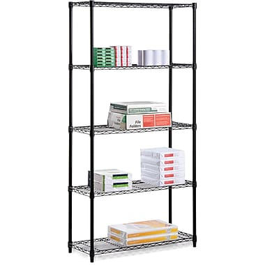 Honey Can Do 5-Tier 350 Lb. Capacity Shelving Unit, Black