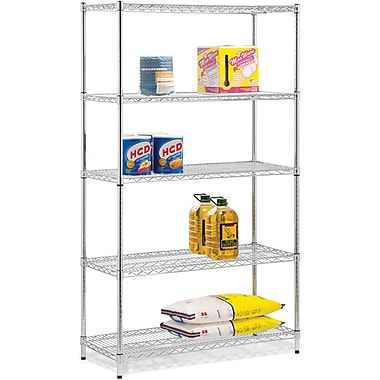 Honey Can Do 5-Tier 800 Lb. Capacity Shelving Unit, Chrome