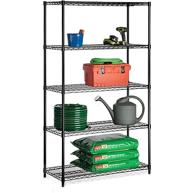 Honey Can Do 5-Tier 800 Lb. Capacity Shelving Unit, Black