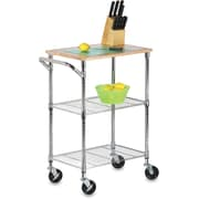 Honey Can Do Chrome 2-Shelf Urban Rolling Chopping Cart