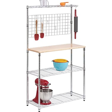 Honey Can Do Chrome 3-Tier Urban Baker's Rack