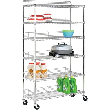 Honey Can Do 6-Tier Steel Shelving- 600 Lb. Capacity, Chrome