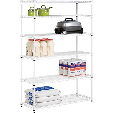 Honey Can Do 6-Tier Steel Shelving- 600 Lb. Capacity, White