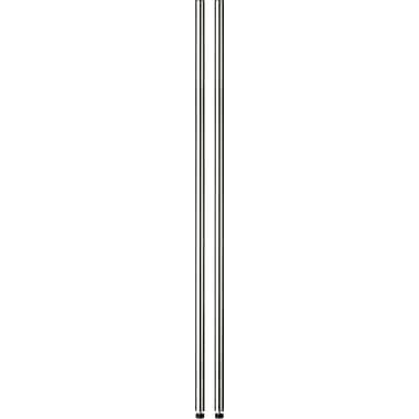 Honey Can Do 72in. Pole With Leg Levelers, Chrome
