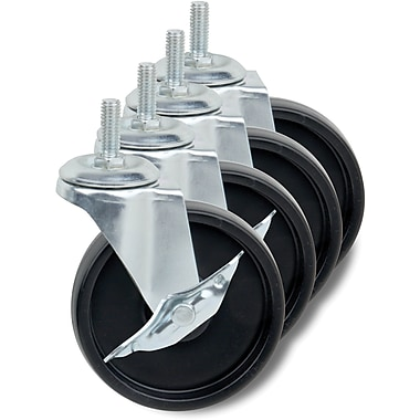 Honey Can Do Set of Four Casters, 4in.
