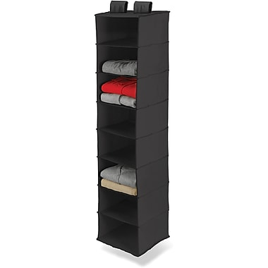 Honey Can Do 8 Shelf Hanging Organizer, Black