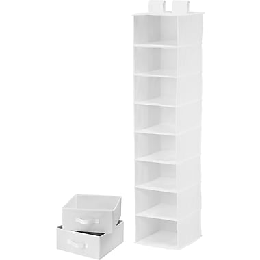 Honey Can Do 8 Shelf Organizer And Two Drawers, White