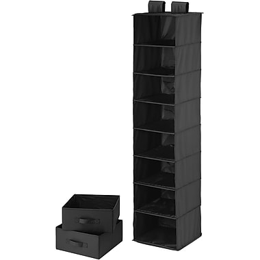 Honey Can Do 8 Shelf Organizer And Two Drawers, Black