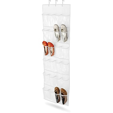 Honey Can Do 24 Pocket Over-Door Shoe Organizer, White