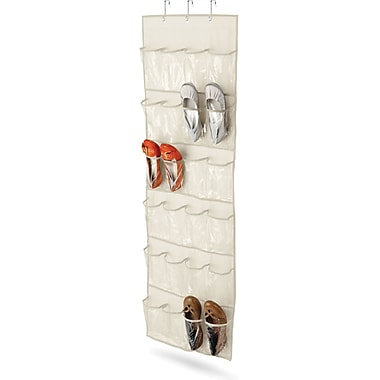 Honey Can Do® 24-Pocket Over-The-Door Shoe Organizer, Beige