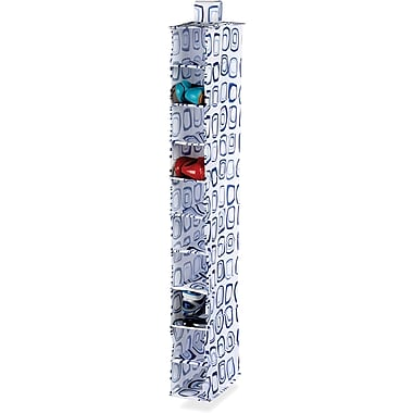 Honey Can Do 10 Shelf Hanging Organizer, Blue Print