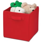 Honey Can Do 4 Pack Non-Woven Foldable Cube, Red