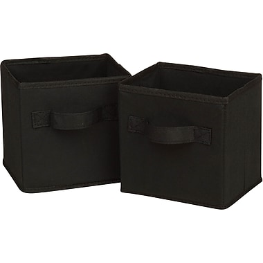 Honey Can Do 6pk Mini Non-Woven Foldable Cube, Black