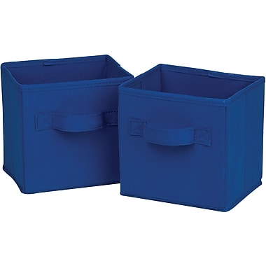 Honey Can Do 6pk Mini Non-Woven Foldable Cube, Navy