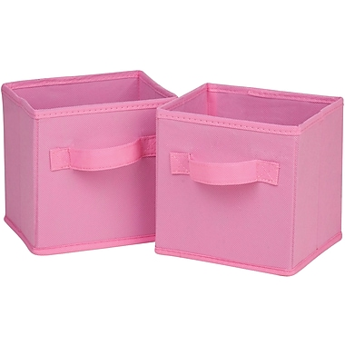 Honey Can Do 6pk Mini Non-Woven Foldable Cube, Pink